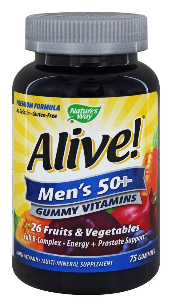 Nature's Way - Alive Men's 50+ Gummy Vitamins - 75 Gummies