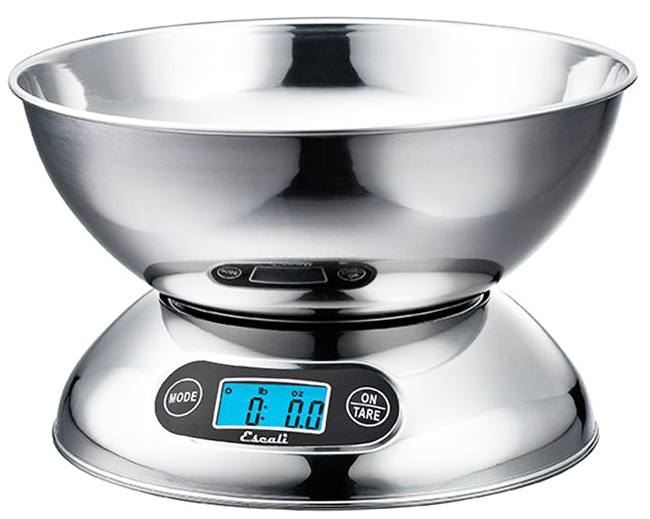 Escali - Rondo Bowl Digital Scale R115 Stainless Steel