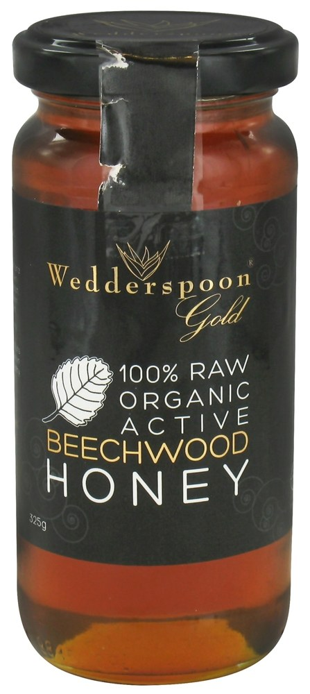 Wedderspoon Organic - 100% Raw Organic Active Beechwood Honey - 11.46 oz.