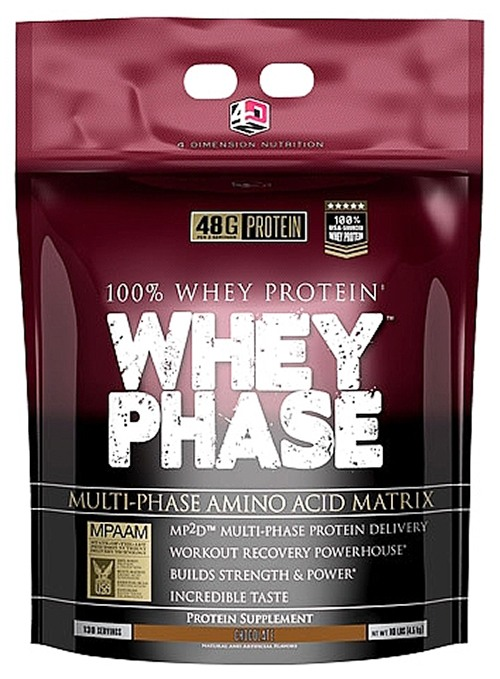 4 Dimension Nutrition - 100% Whey Protein Whey Phase Chocolate - 10 lbs.
