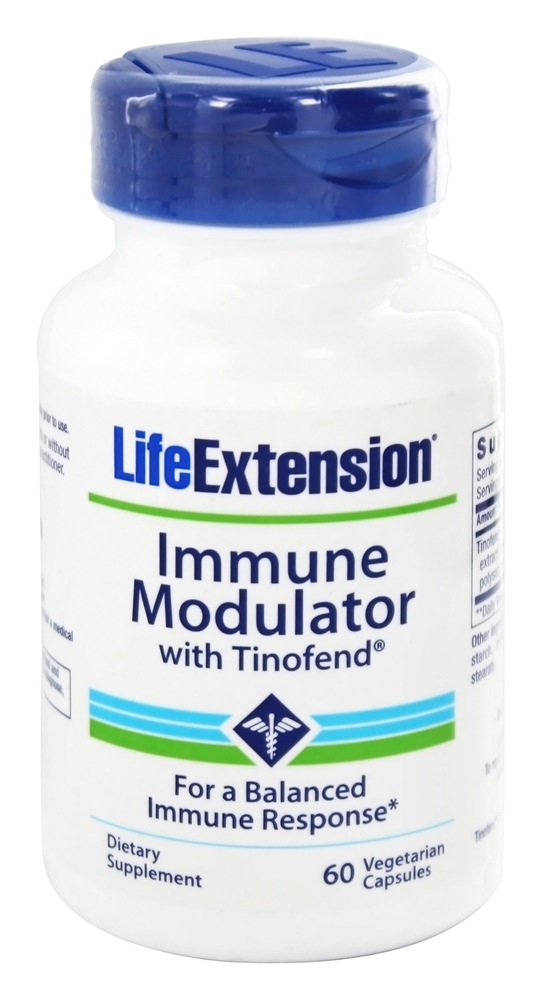 Life Extension - Immune Modulator with Tinofend - 60 Vegetarian Capsules