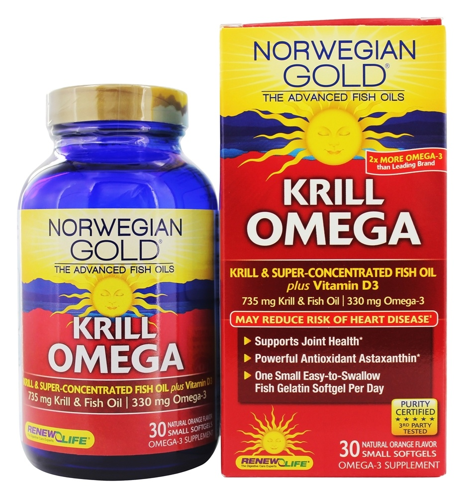 ReNew Life - Norwegian Gold Krill Omega Natural Orange - 30 Softgels