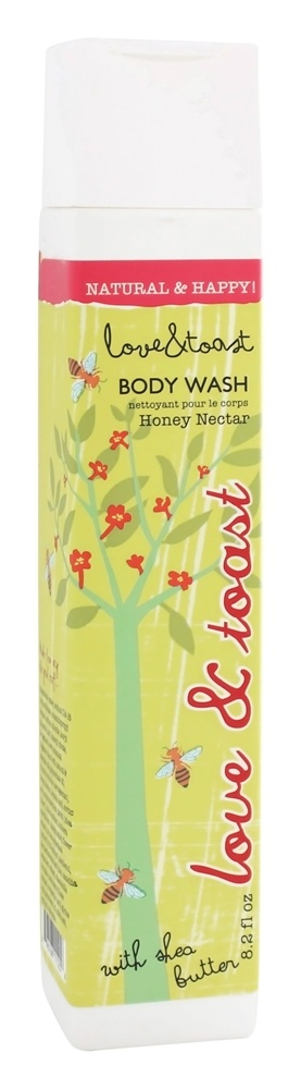 Love & Toast - Body Wash With Shea Butter Honey Nectar - 8.2 oz.