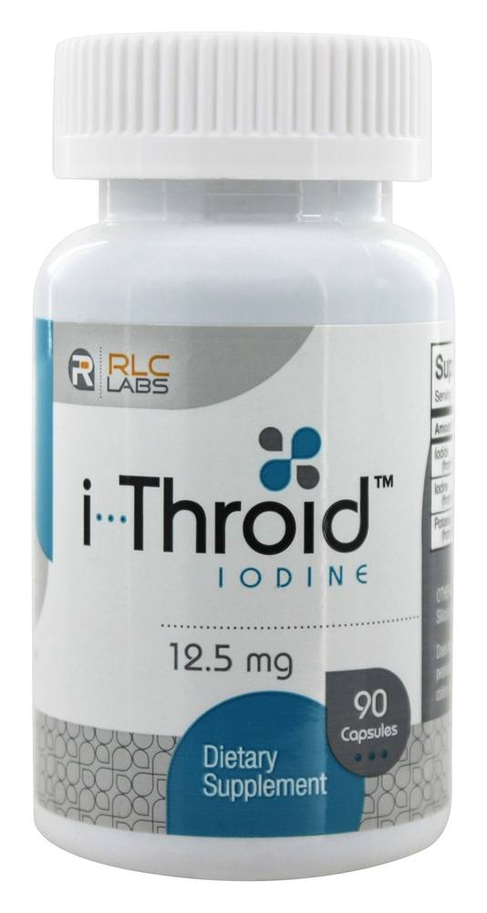 RLC Labs - I-Throid Iodine Dietary Supplement - 90 Capsules