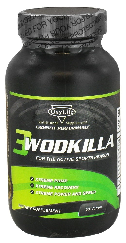 OxyLife Products - Wodkilla Pre-Workout Booster - 60 Vegetarian Capsules
