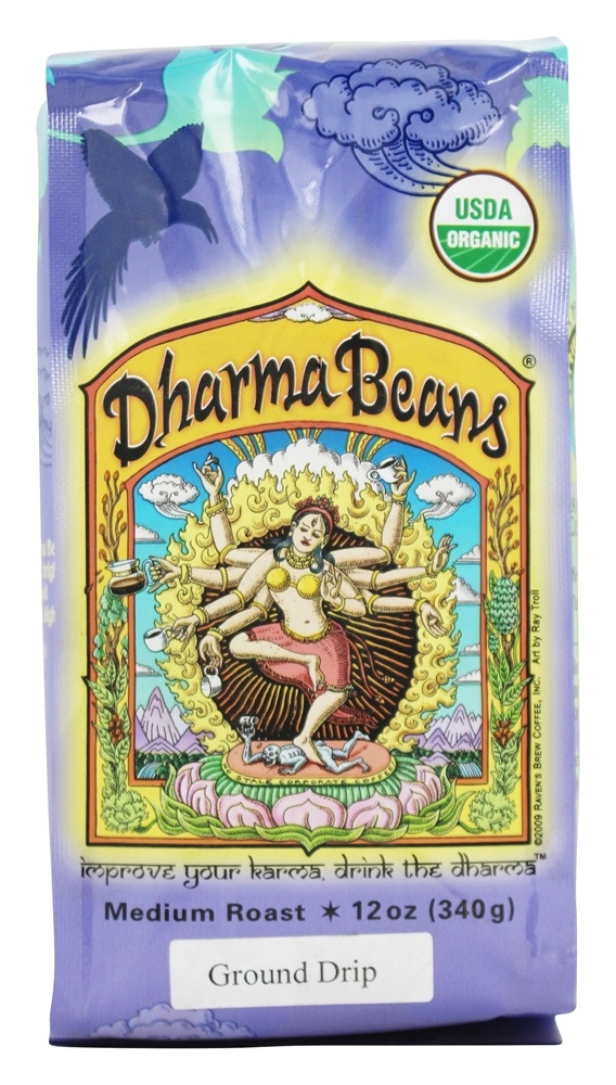 Raven's Brew Coffee - Dharma Beans Organic Ground Coffee - 12 oz.