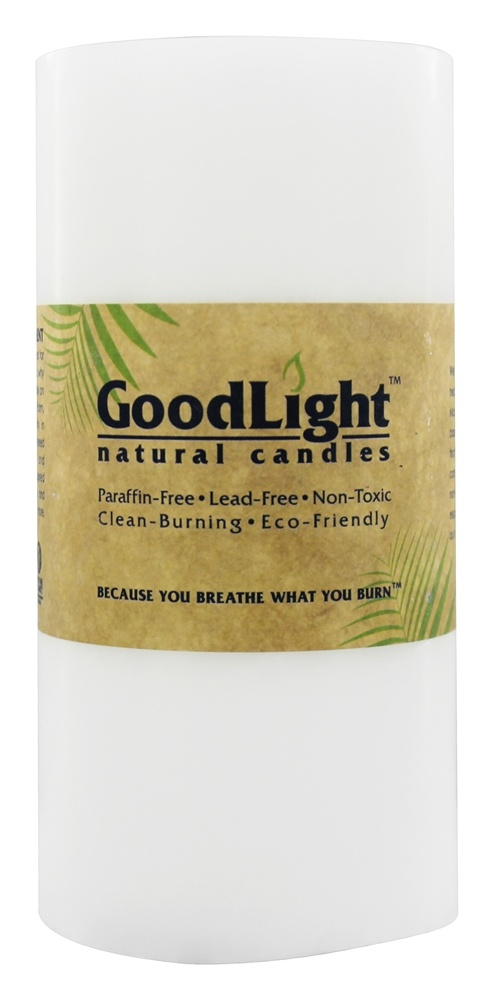 GoodLight Natural Candles - Pillar Unscented - 3' x 6'
