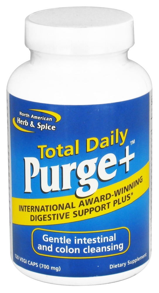 North American Herb & Spice - Total Daily Purge+ Digestive Support - 120 Vegetarian Capsules CLEARANCE PRICED