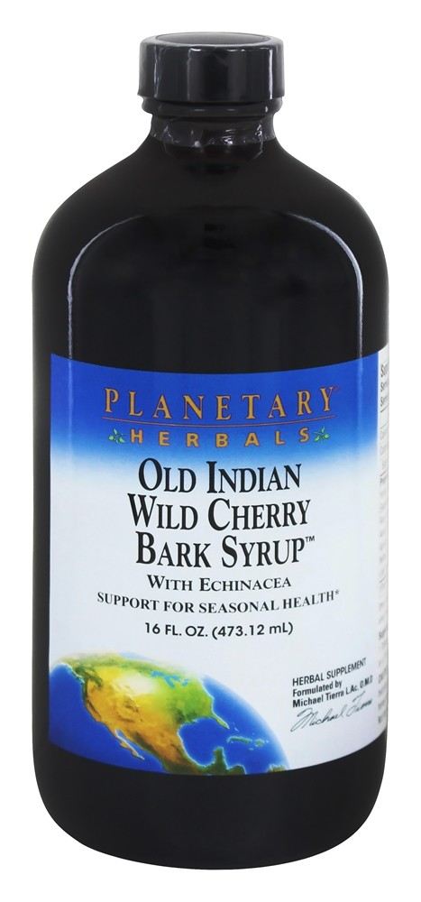 Planetary Herbals - Old Indian Wild Cherry Bark Syrup Seasonal Health Support - 16 oz.