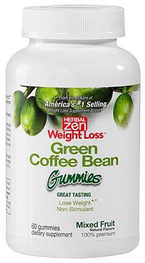 Herbal Zen Weight Loss - Green Coffee Bean Gummies Mixed Fruit - 60 Gummies