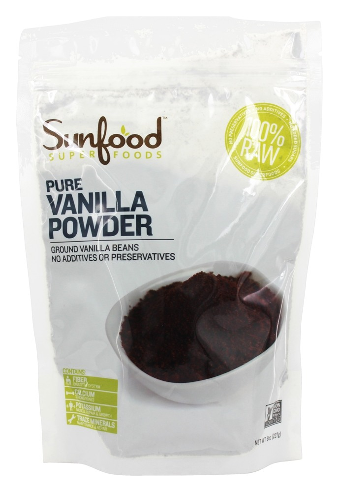 Sunfood Superfoods - Vanilla Bean Powder - 8 oz. CLEARANCE PRICED