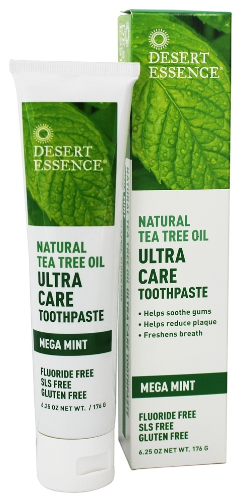 Desert Essence - Natural Tea Tree Oil Ultra Care Toothpaste Mega Mint - 6.25 oz.