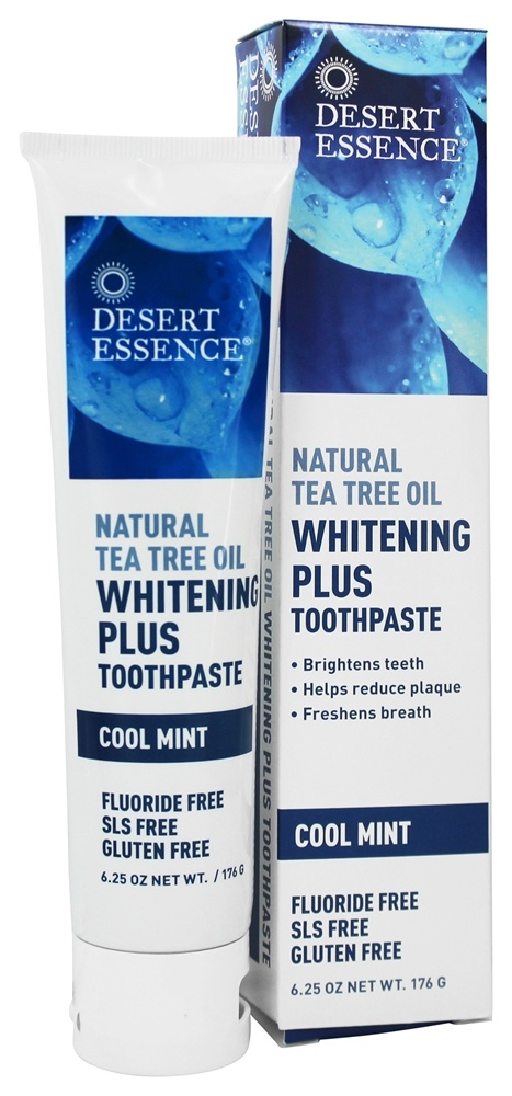 Desert Essence - Natural Tea Tree Oil Whitening Plus Toothpaste Cool Mint - 6.25 oz.