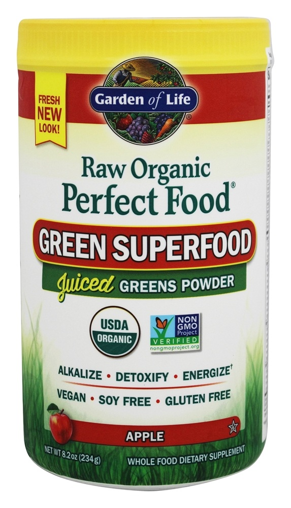 Garden of Life - Perfect Food Raw 100% Organic Green Superfood Apple - 7.9 oz.