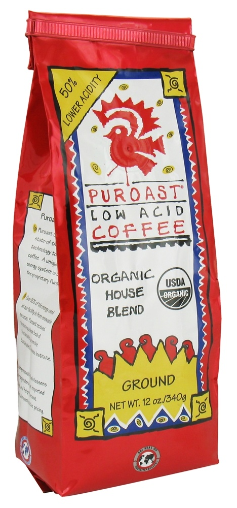 Puroast - Organic Ground Low Acid Coffee House Blend - 12 oz.
