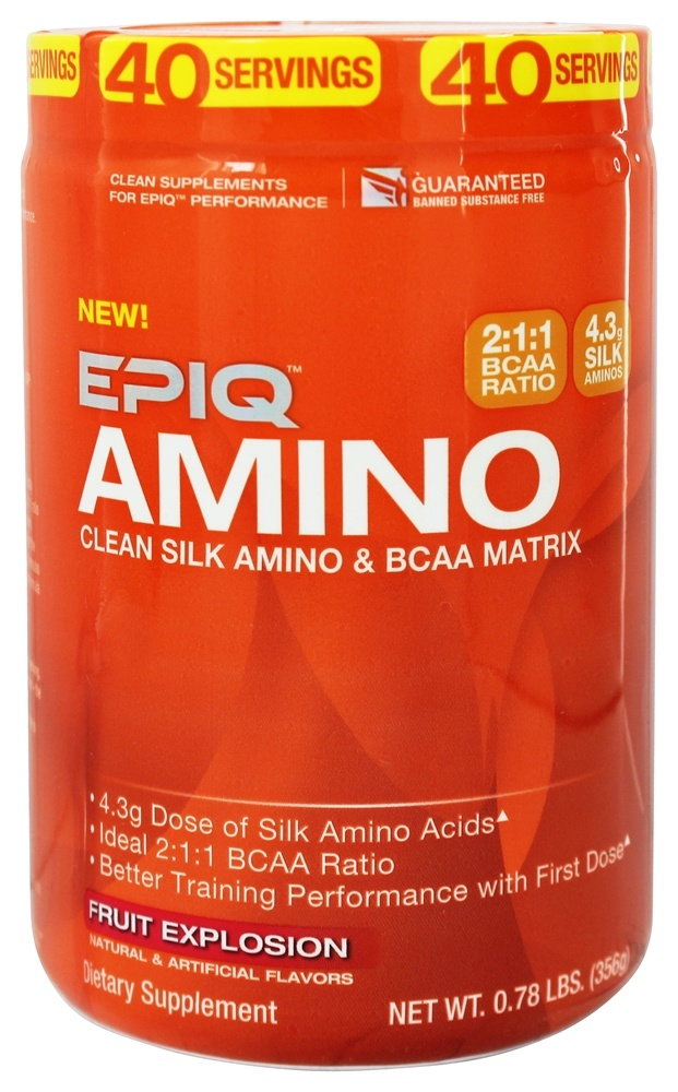 EPIQ - Amino Clean Silk Amino & BCAA Matrix Fruit Explosion - 0.78 lb.