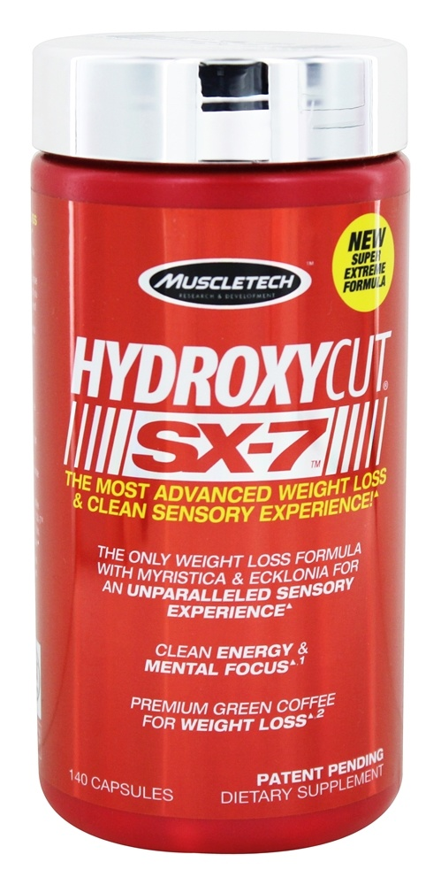 Muscletech Products - Hydroxycut SX7 - 140 Capsules