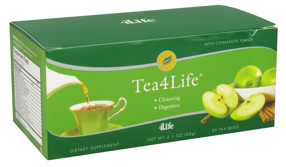 4Life - Tea4Life Apple Cinnamon Flavor - 30 Tea Bags