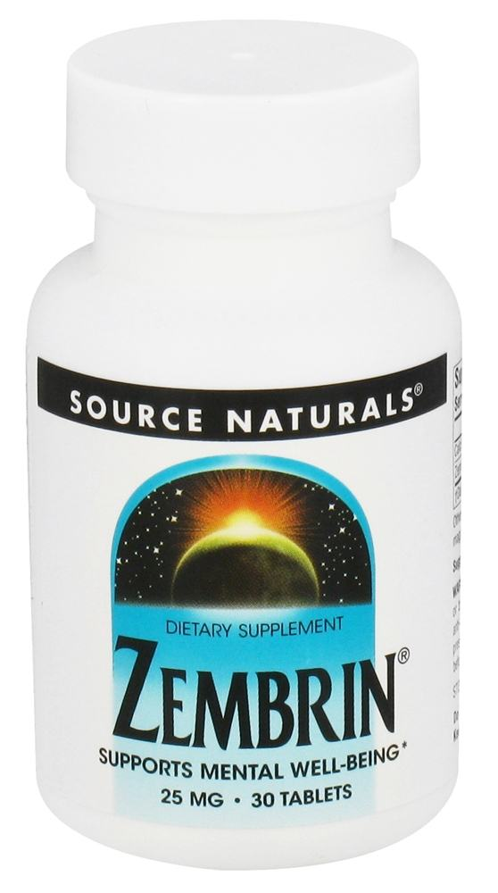Source Naturals - Zembrin 25 mg. - 30 Tablets