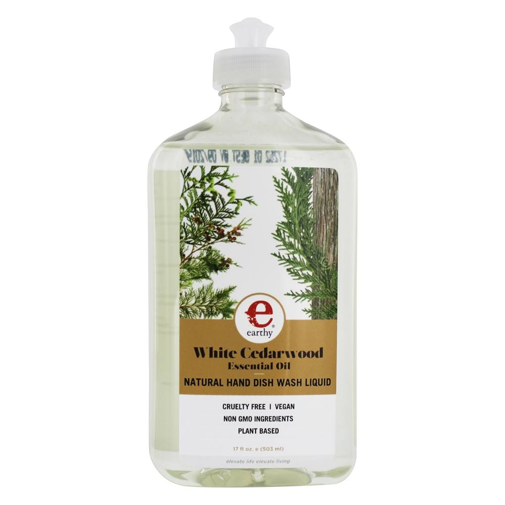 Earthy - Clean Dishes Natural Hand Dish Wash Liquid White Cedarwood - 17 oz.