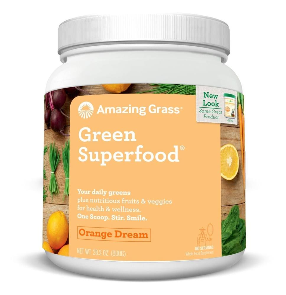 Amazing Grass - Green SuperFood Drink Powder 100 Servings Orange Dreamsicle - 28 oz.