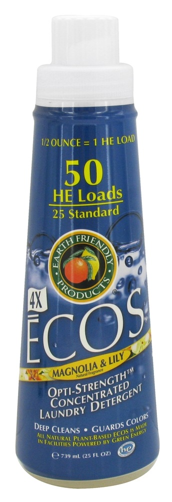 Earth Friendly - ECOS 4X Opti-Strength Concentrated Laundry Detergent Magnolia & Lily - 25 oz.