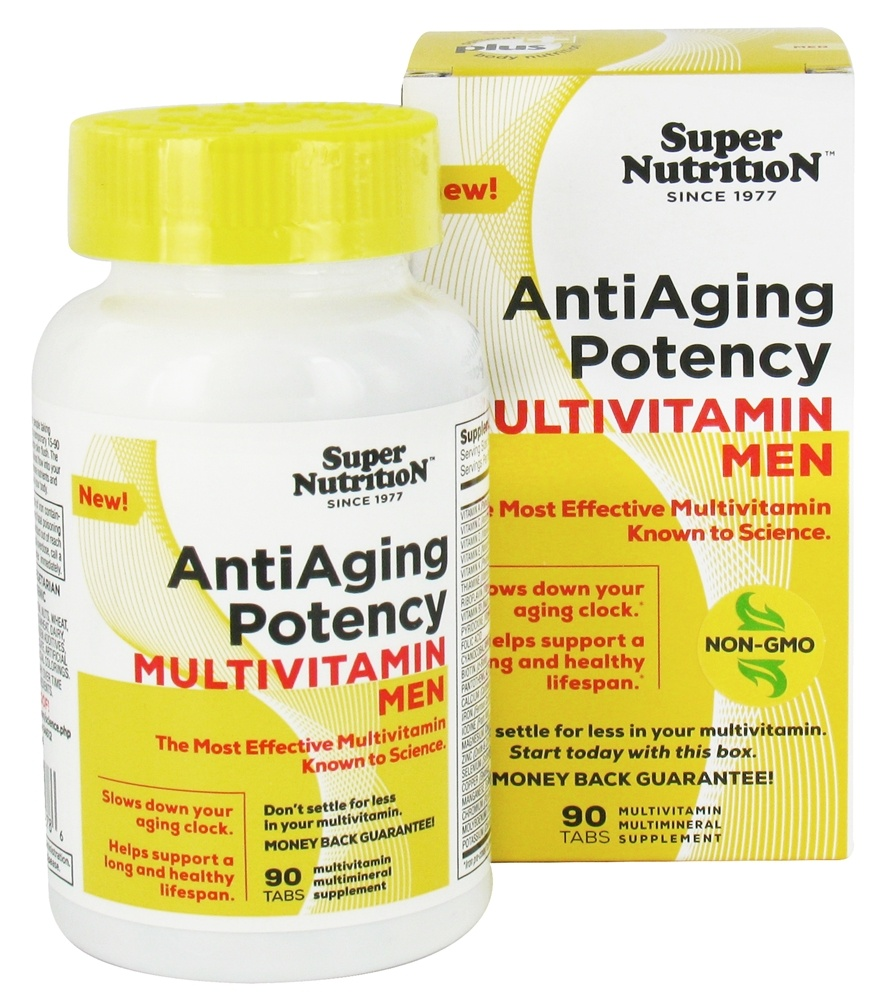 Super Nutrition - Anti-Aging Potency Multivitamin Men - 90 Tablets