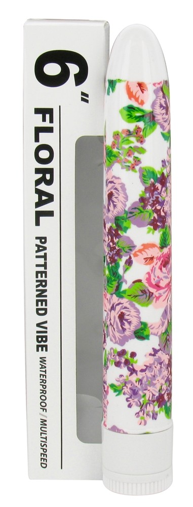 Sinclair Institute - Vibe Waterproof/Multispeed Personal Massager Floral Patterned