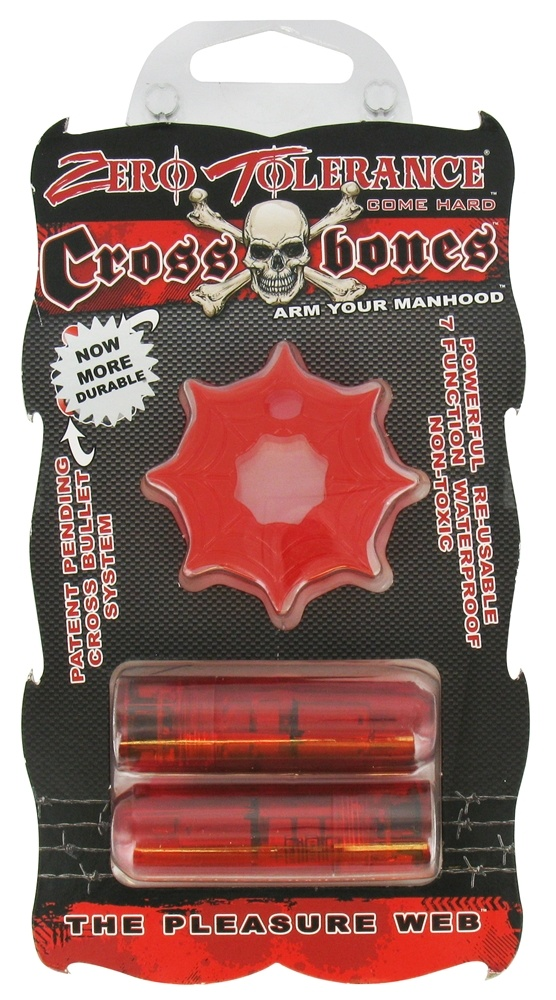 Evolved Novelties - Zero Tolerance Cross Bones The Pleasure Web Double Bullet Red