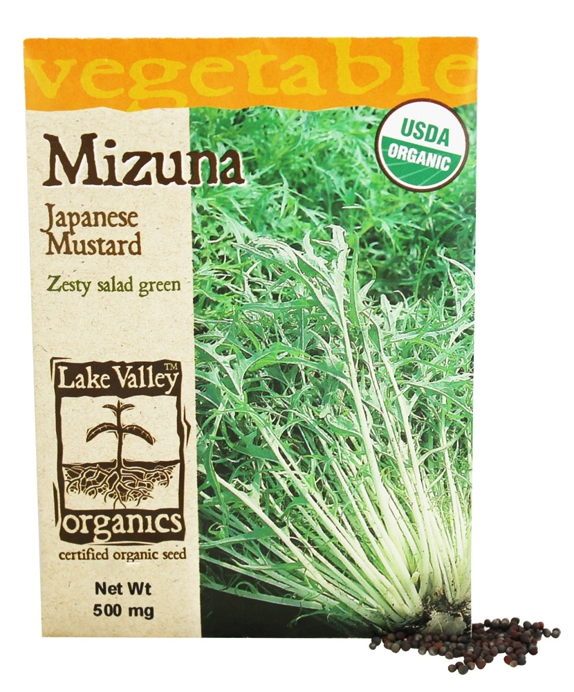 Lake Valley Seed - Organic Mizuna Japanese Mustard Seeds - 500 mg.