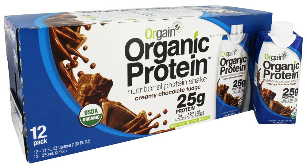 Orgain - Organic Ready To Drink Protein Shake Creamy Chocolate Fudge - 12 Pack LUCKY DEAL