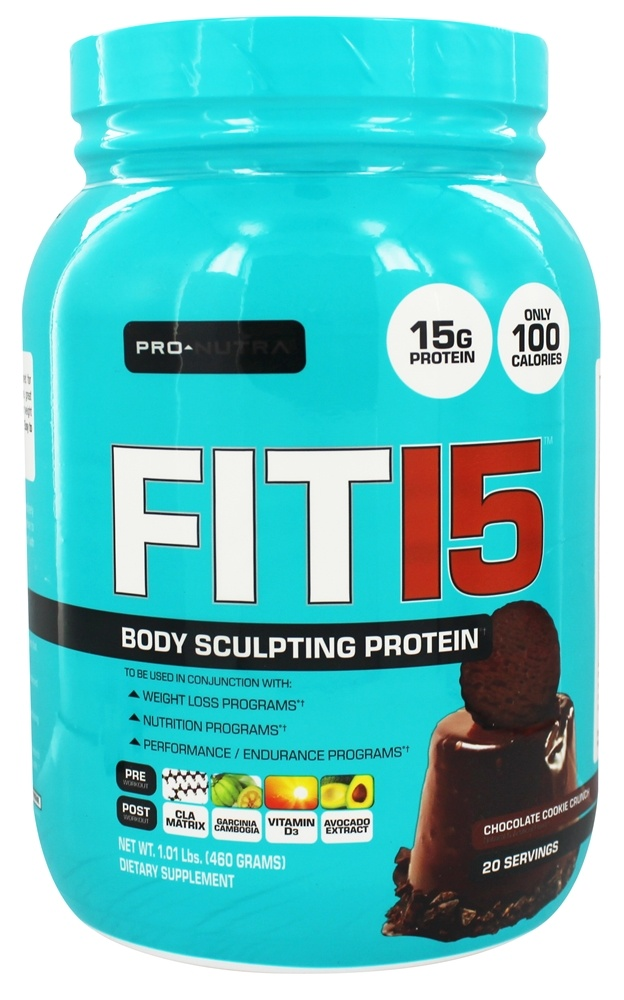 Pro Nutra - Fit 15 Body Sculpting Protein Chocolate Cookie Crunch - 1.15 lbs.
