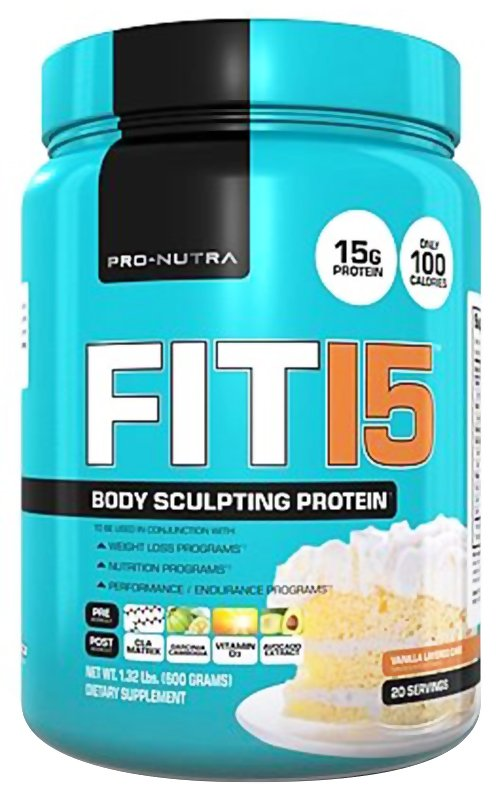 Pro Nutra - Fit 15 Body Sculpting Protein Vanilla Layered Cake - 1.15 lbs.