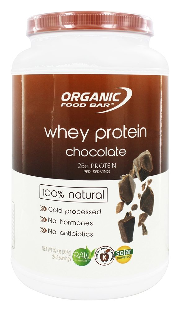Organic Food Bar - Whey Protein 100% Natural Chocolate - 32 oz.