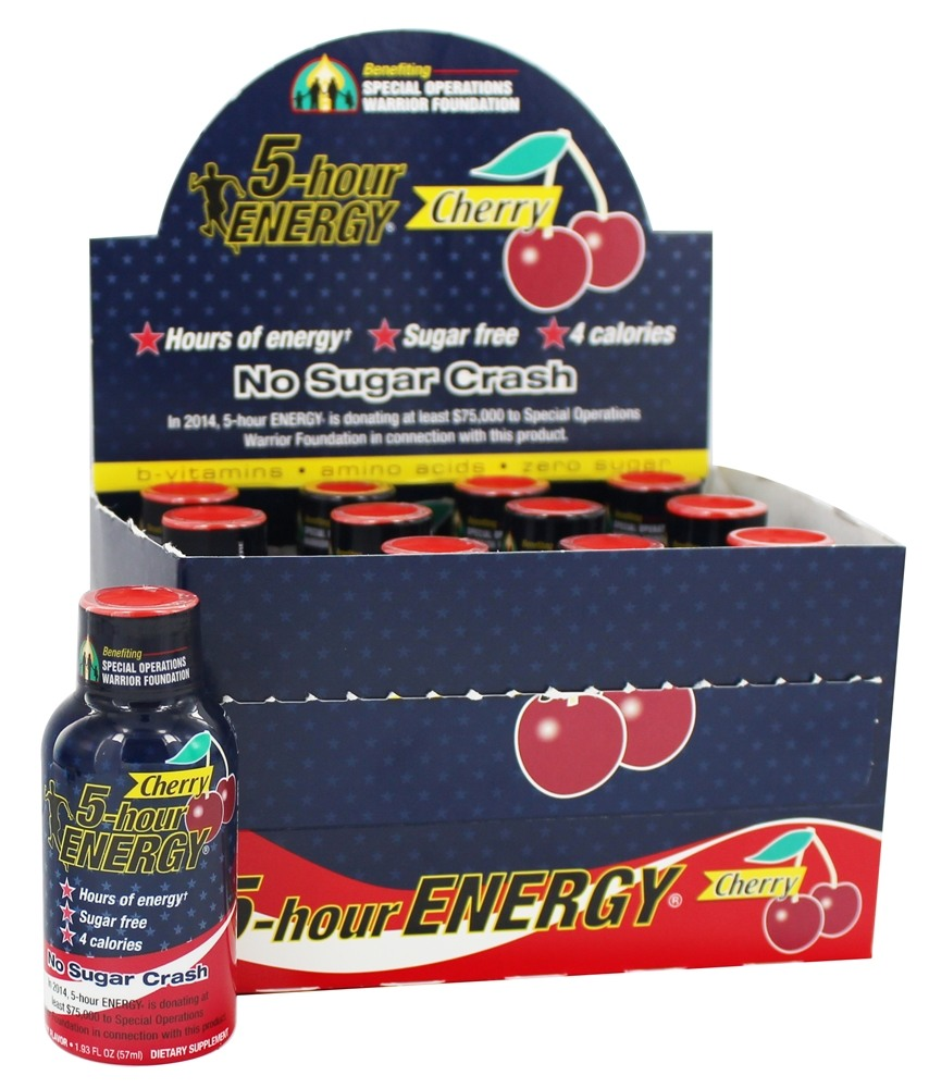 5 Hour Energy - Energy Shot Cherry Flavor - 1.93 oz.