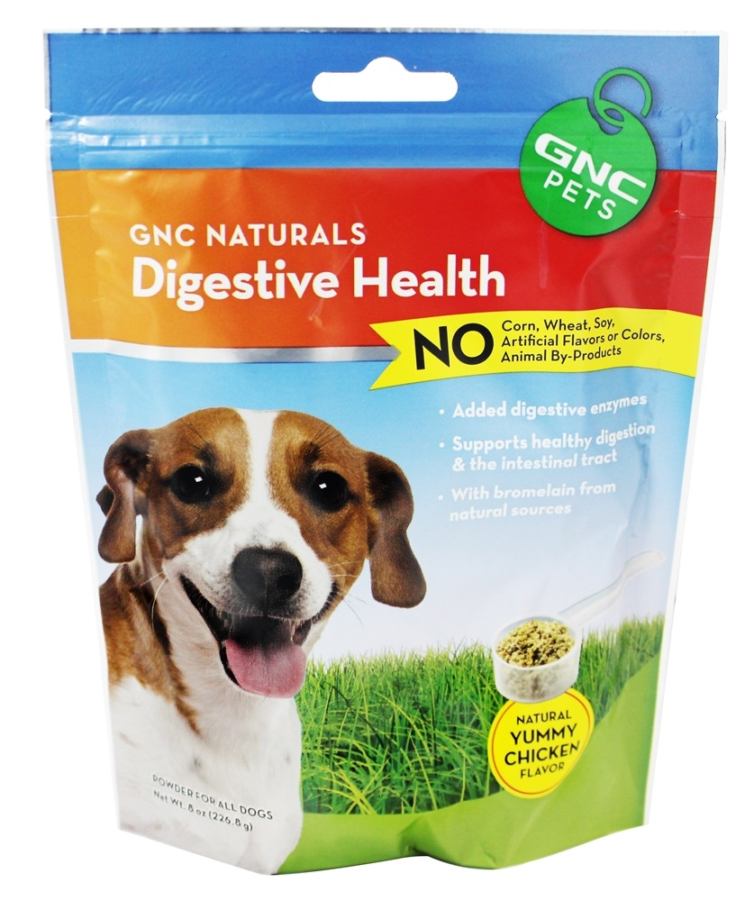 GNC Pets - Naturals Digestive Health Powder For All Dogs Natural Yummy Chicken Flavor - 8 oz.