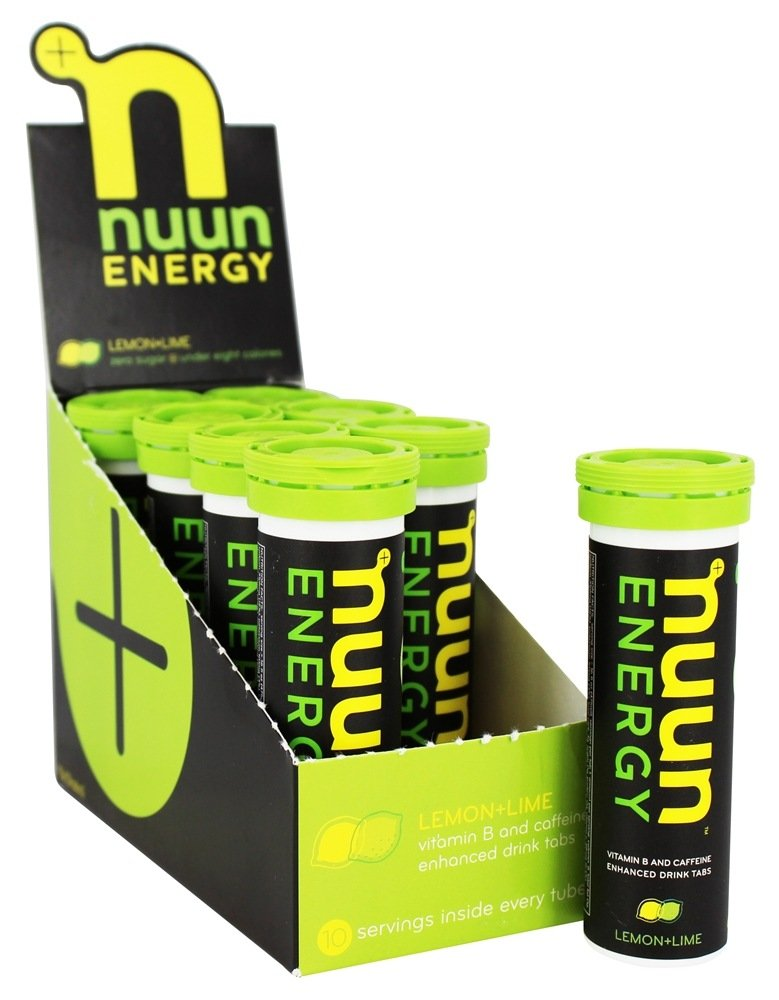 Nuun - Energy Vitamin B & Caffeine Enhanced Drink Tabs Lemon Lime - 10 Tablets