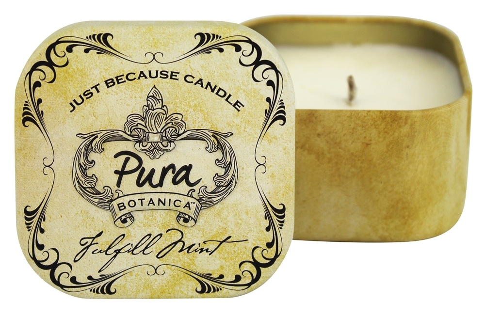 Pura Botanica - Just Because Soy Candle Tin Fulfill Mint - 3 oz.