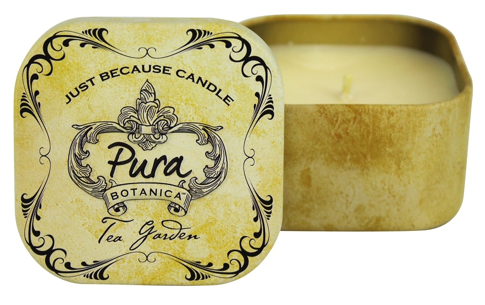 Pura Botanica - Just Because Soy Candle Tin Tea Garden - 3 oz.