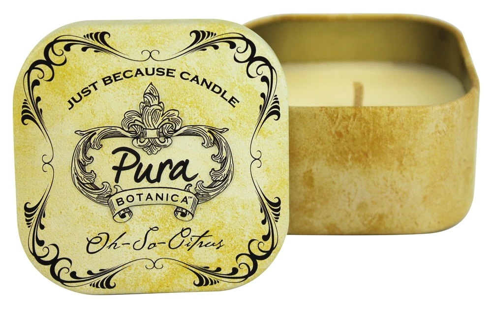 Pura Botanica - Just Because Soy Candle Tin Oh-So-Citrus - 3 oz.