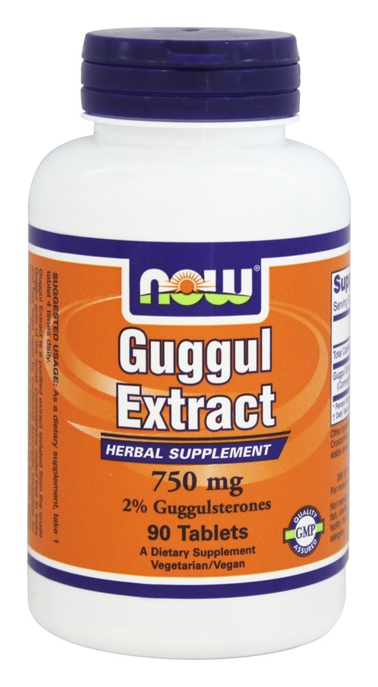 NOW Foods - Guggul Extract Herbal Supplement 750 mg. - 90 Tablets