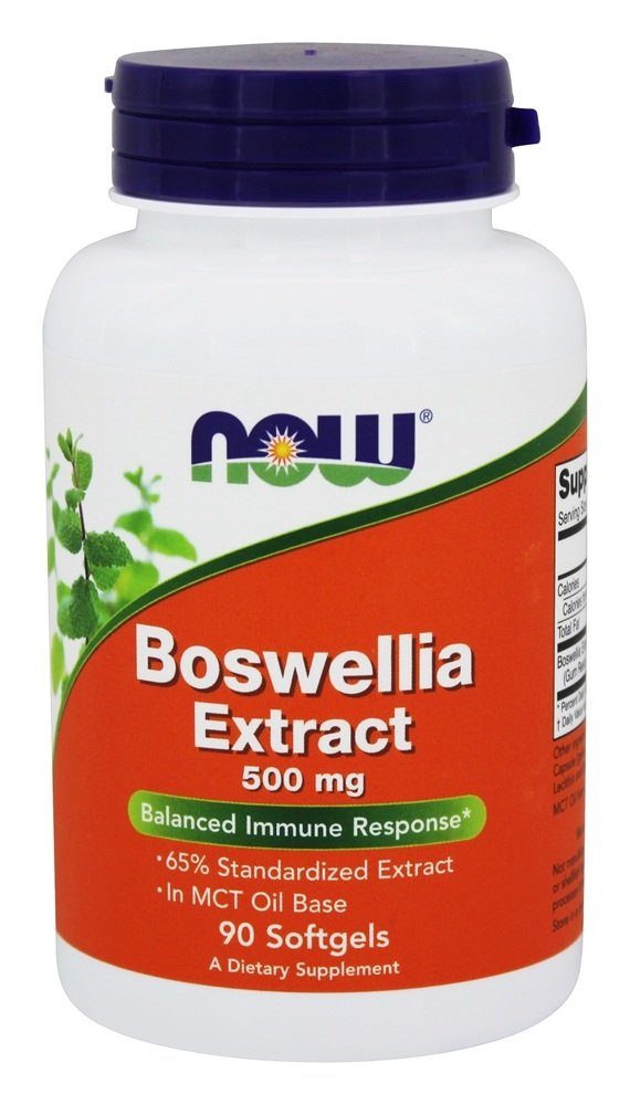 NOW Foods - Boswellia Extract Balanced Immune Response 500 mg. - 90 Softgels