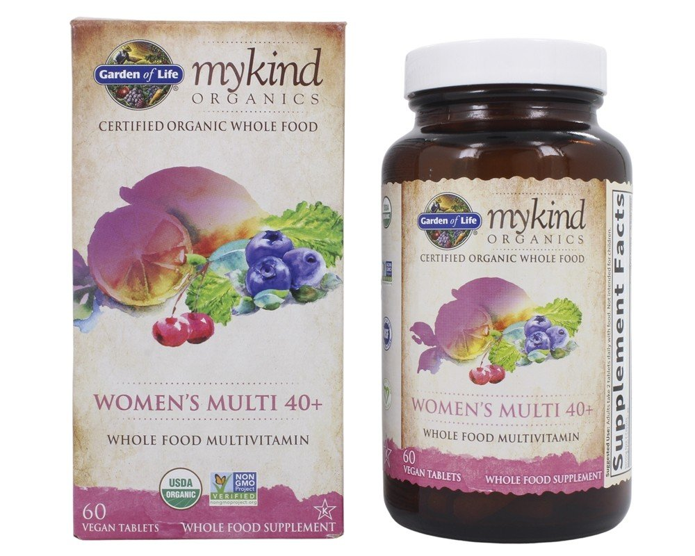Garden of Life - Kind Organics Women's Multi 40+ Whole Food Multivitamin - 60 Vegetarian Tablets LUCKY PRICE