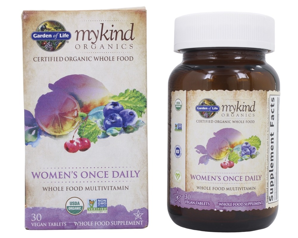 Garden of Life - Kind Organics Women's Once Daily Whole Food Multivitamin - 30 Vegetarian Tablets LUCKY PRICE