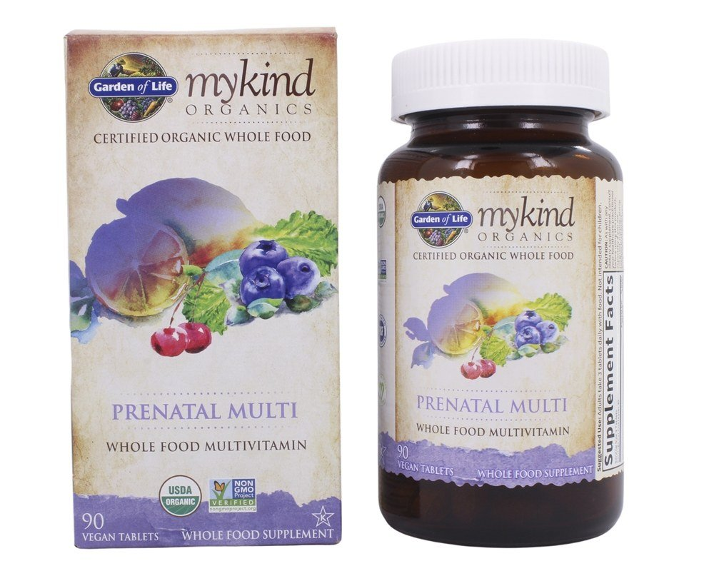 Garden of Life - Kind Organics Prenatal Multi Whole Food Multivitamin - 90 Vegetarian Tablets LUCKY PRICE