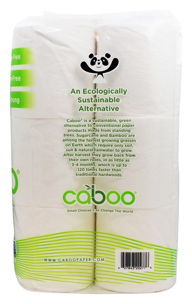 Caboo 100 Bamboo And Sugarcane Bath Tissue 12 Roll S