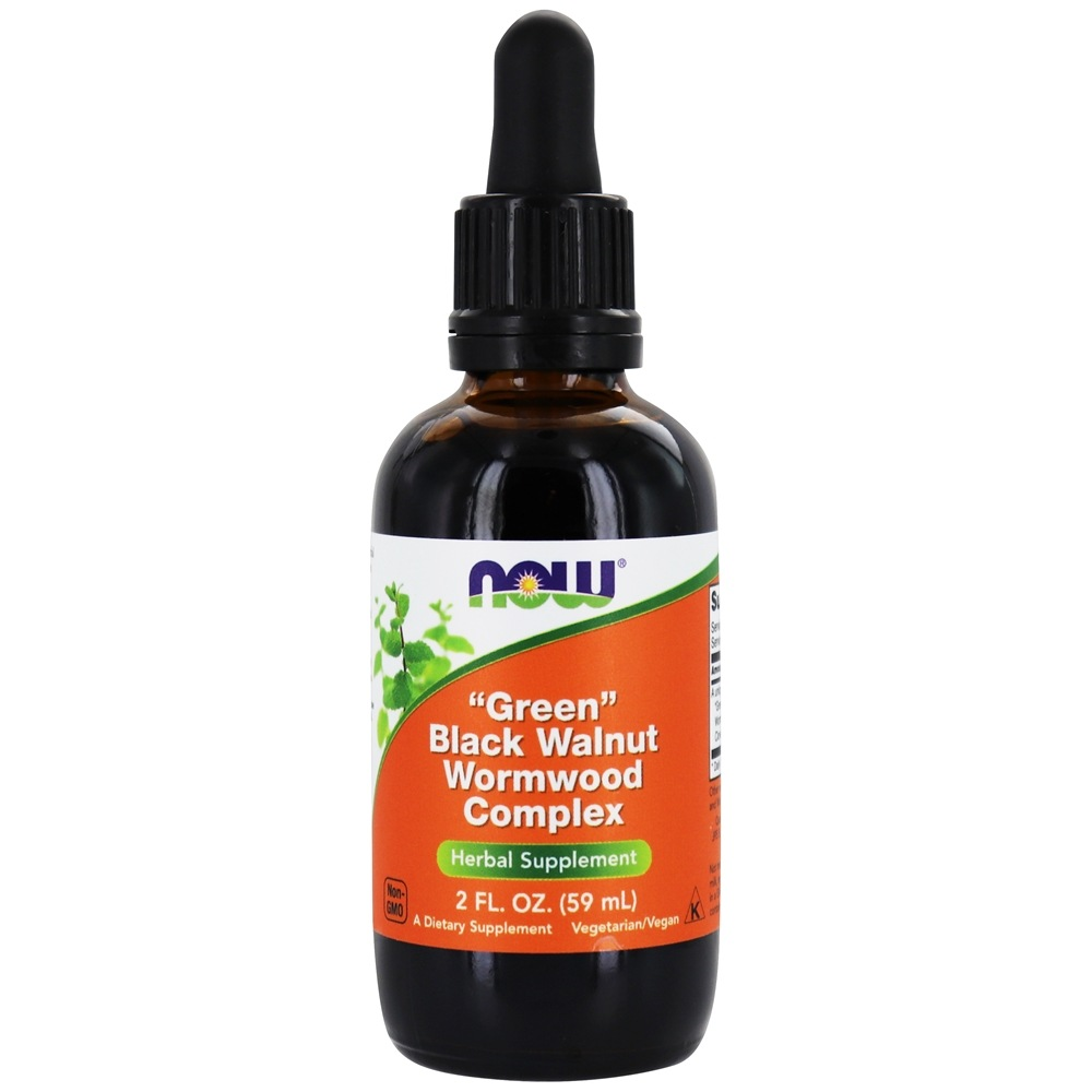 NOW Foods - Fresh Green Black Walnut Wormwood Complex (60mL) - 2 oz.