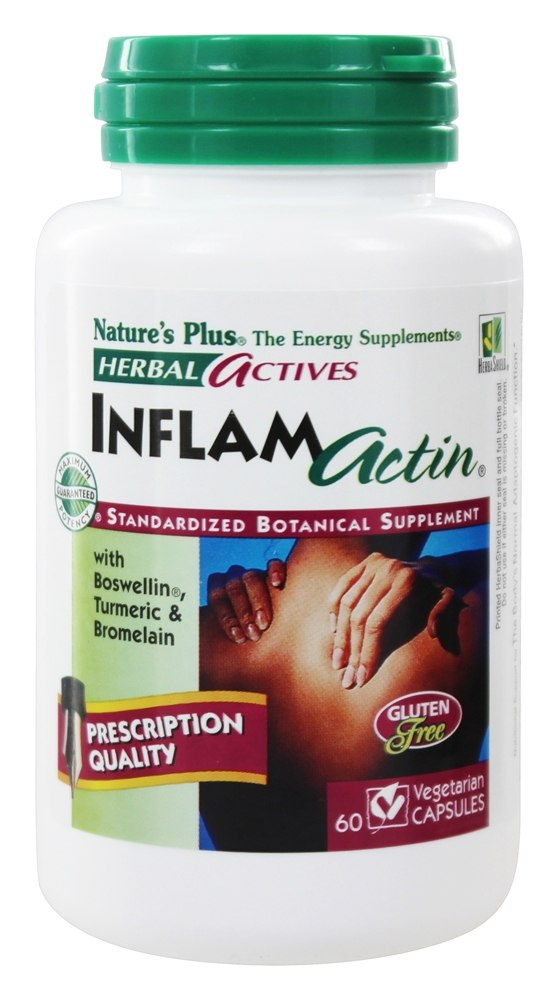 Nature's Plus - Herbal Actives InflamActin - 60 Vegetarian Capsules