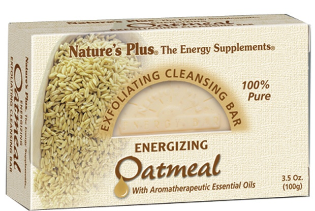 Nature's Plus - Exfoliating Cleansing Bar Energizing Oatmeal - 3.5 oz. CLEARANCE PRICED