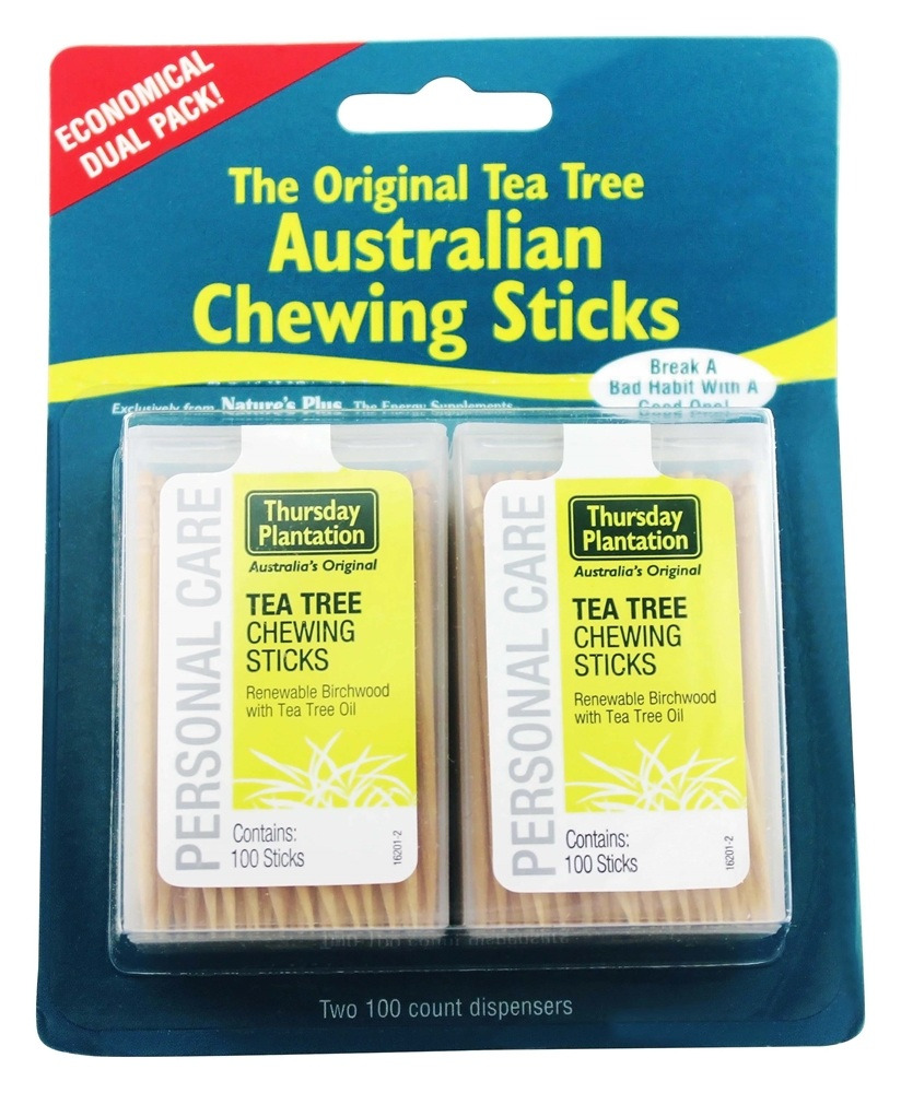 Thursday Plantation - The Original Australian Tea Tree Chewing Sticks (Toothpicks) Twin Pack Special - 200 Stick(s)